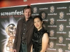with wife Sachiko at the Splinter premiere